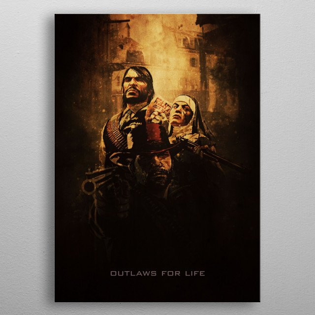 Outlaws for Life metal poster