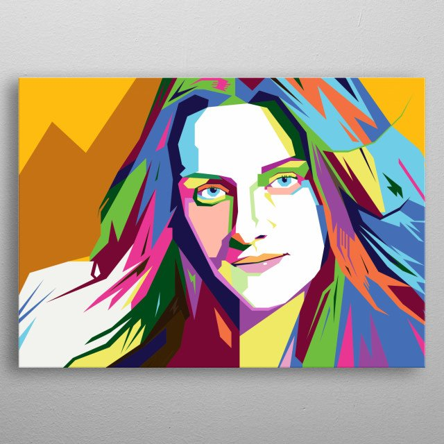 Kristen Stewart Design Illustration in Wpap Style. Background and Wallpaper with Colorful metal poster