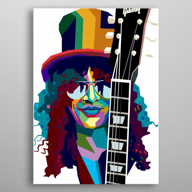 Slash Design Illustration in Wpap Style. Background and Wallpaper with Colorful metal poster