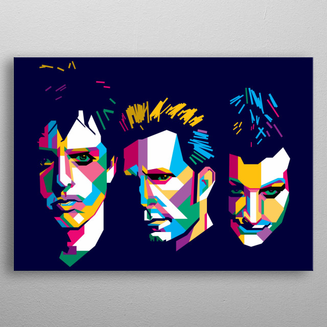 Greenday Design Illustration in Wpap Style. background and Wallpaper with Colorful metal poster