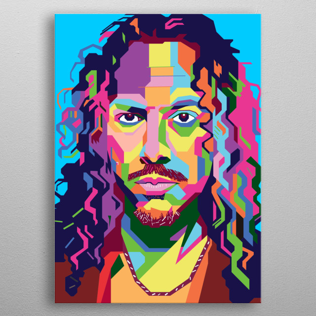 Kirk Hammet Design Illustration in Wpap Style. Background and Wallpaper with Colorful metal poster