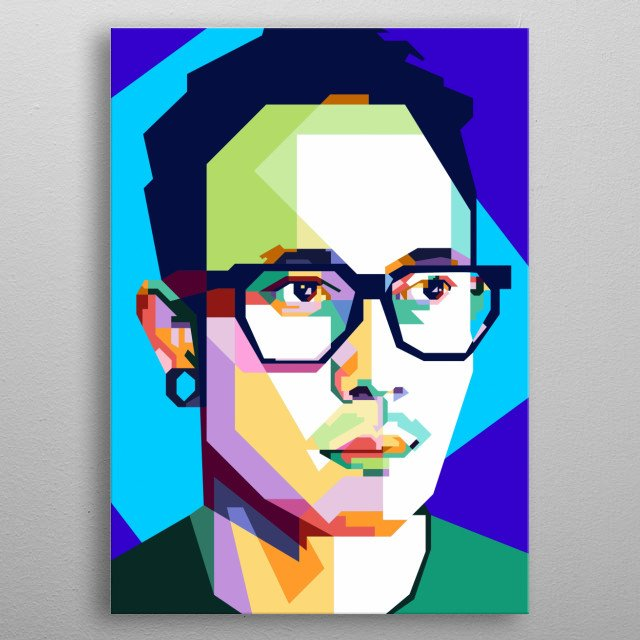 Matt Heafy Design Illustration in Wpap Style. Background and Wallpaper with Colorful metal poster