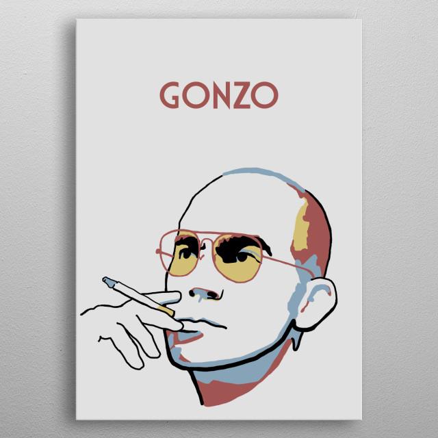 "Hunter S Thompson ""Gonzo"" metal poster"