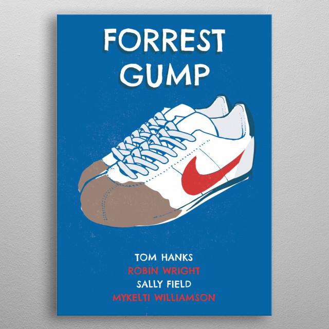 Alternative Forrest Gump art movie metal poster