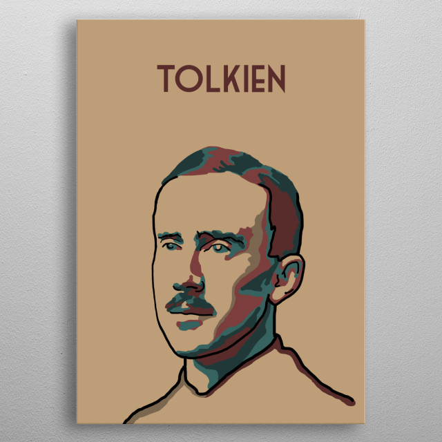 JRR Tolkien metal poster