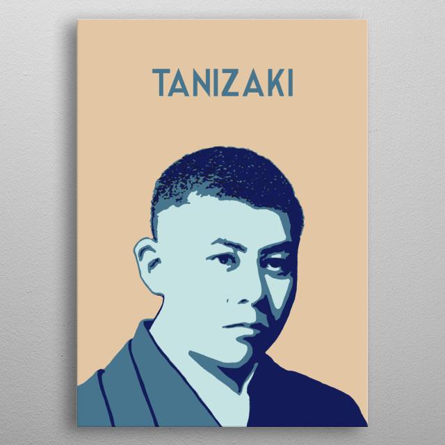 Junichiro Tanizaki metal poster