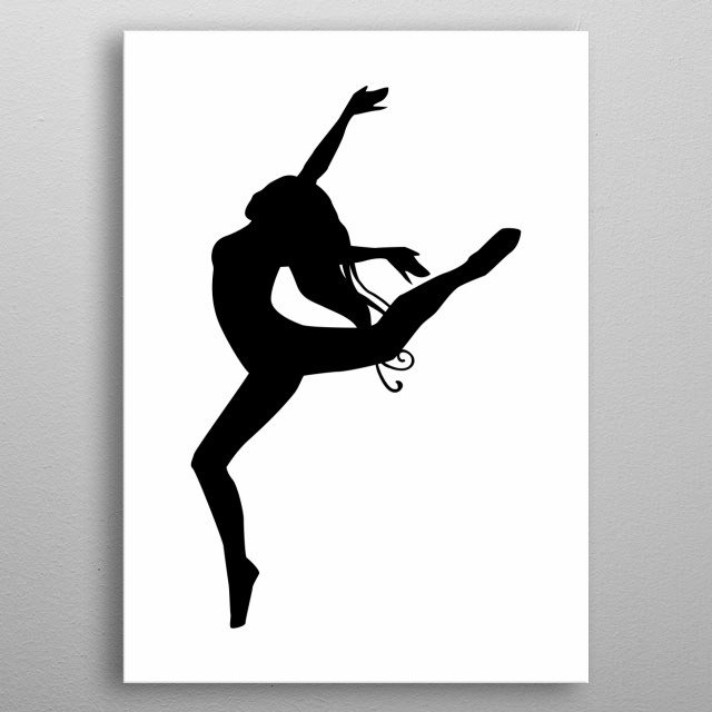 happiness, woman jump metal poster