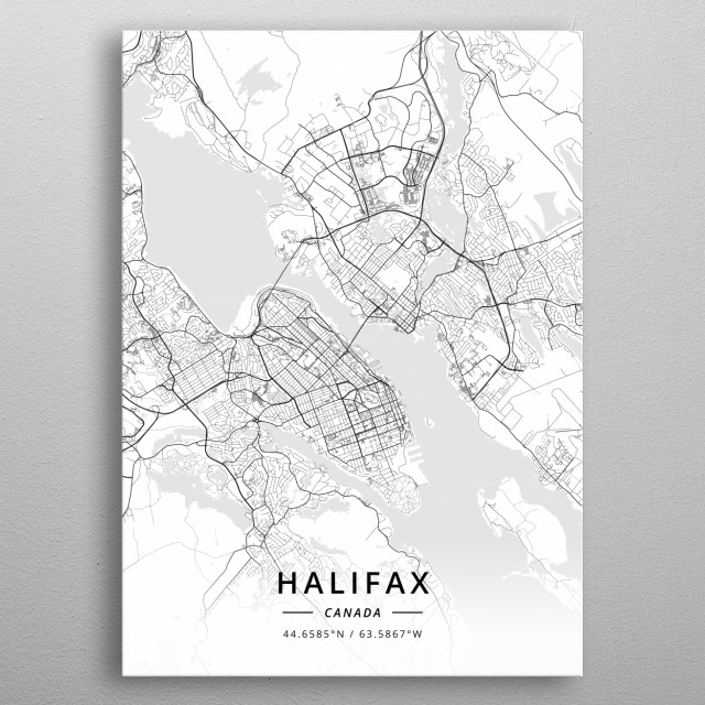 Halifax, Canada metal poster