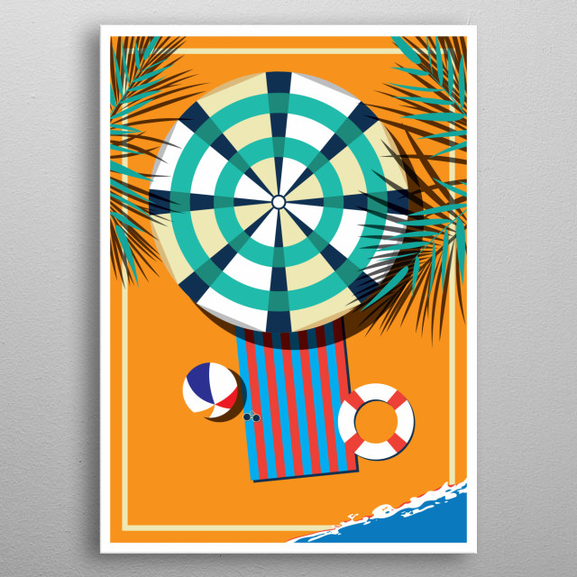 Summer Beautiful Girl In The Pool Design Just For Pool Lovers Everywhere. metal poster