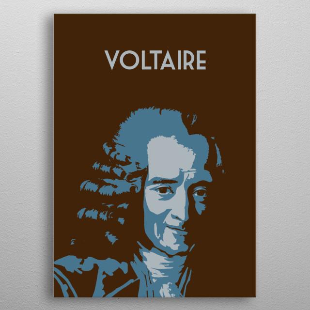 Voltaire metal poster