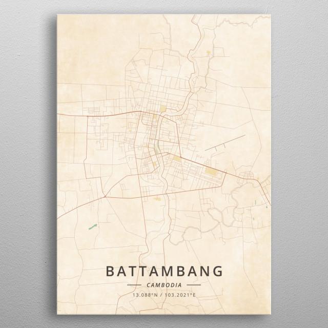 Battambang, Cambodia metal poster