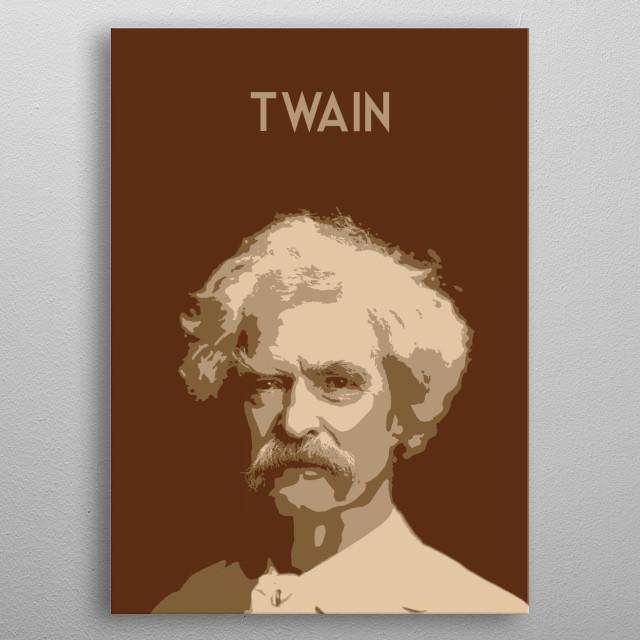 Mark Twain metal poster