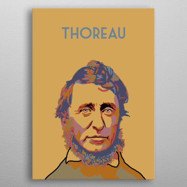 Henry David Thoreau metal poster