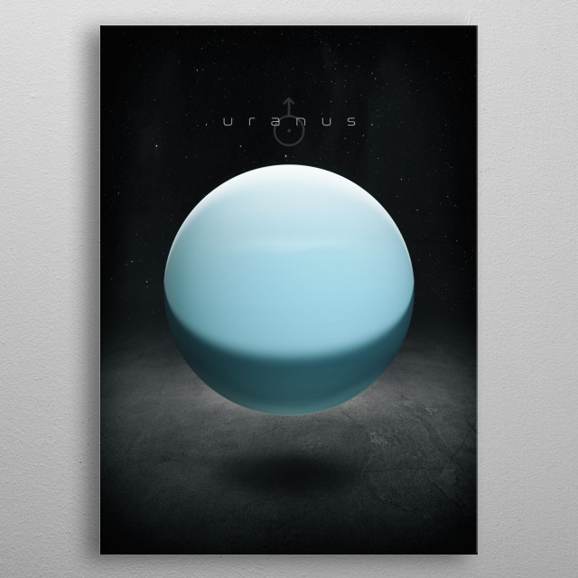Series of illustrations of our solar system. metal poster
