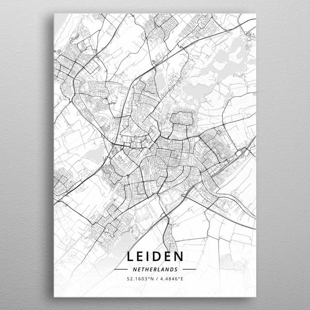Leiden, Netherlands metal poster