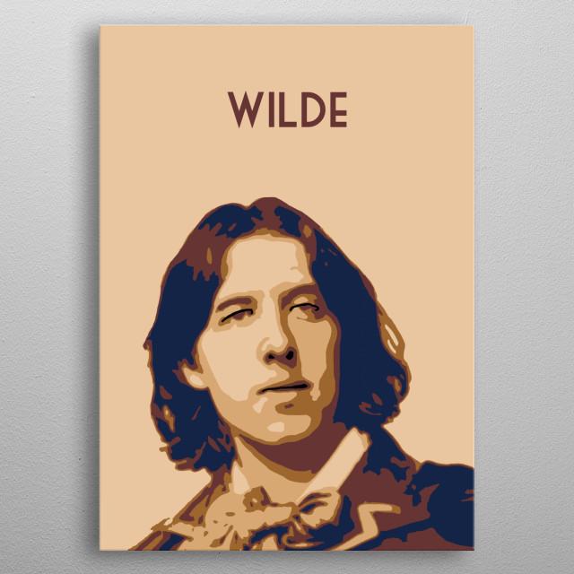 Oscar Wilde metal poster