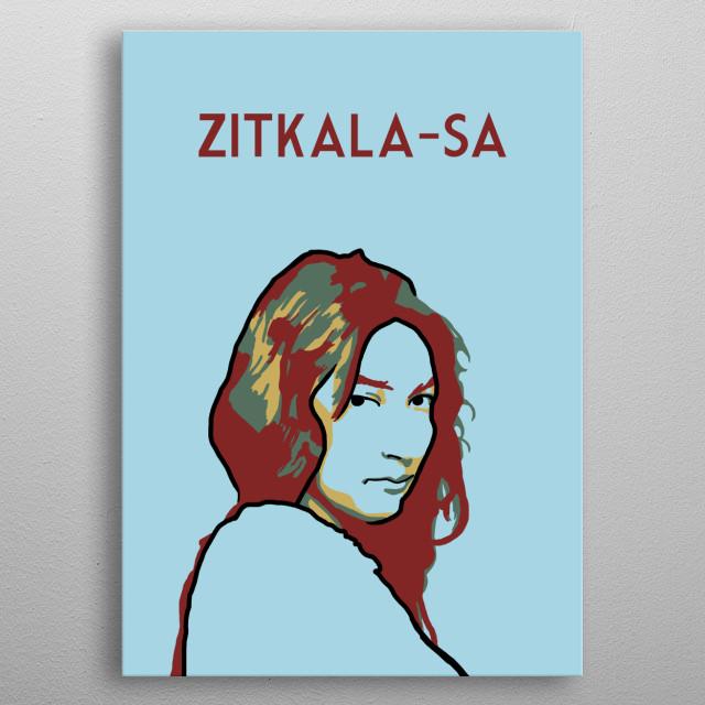 Zitkala Sa metal poster