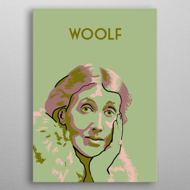 Virginia Woolf metal poster