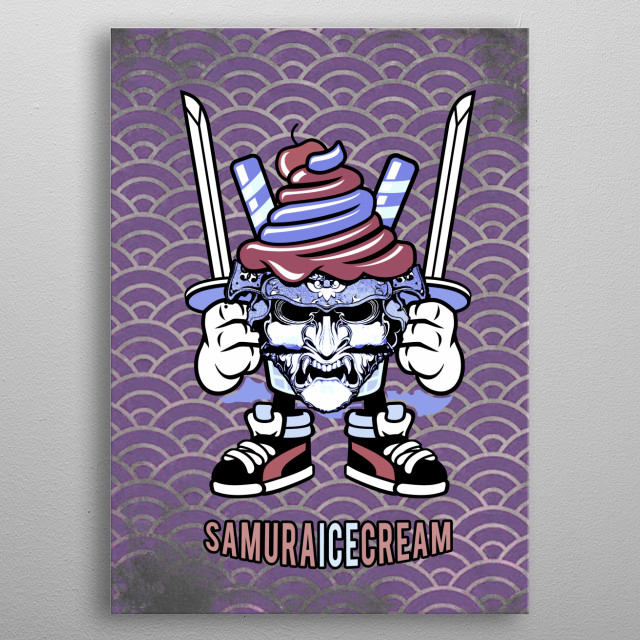 SamuraICEcream, gift for all ice cream lovers who practice martial arts metal poster