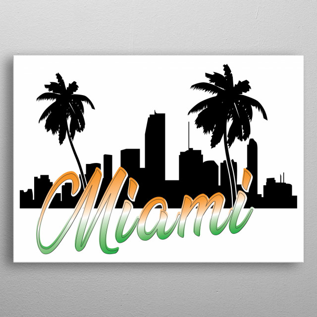 Miami et ces couleurs metal poster