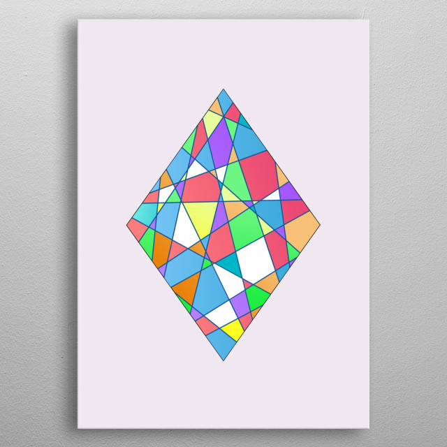 Geometric Rhombus - Based on Gradient Colors. To see more geometric paintings, check my geometry collection.  metal poster