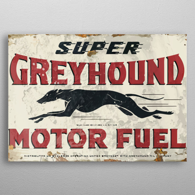 The vintage metal collection of fuel service stations. metal poster
