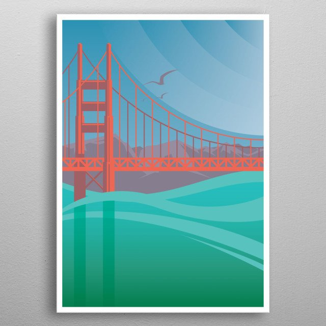 Golden Gate Bridge Design Just For Usa Lovers Everywhere. metal poster