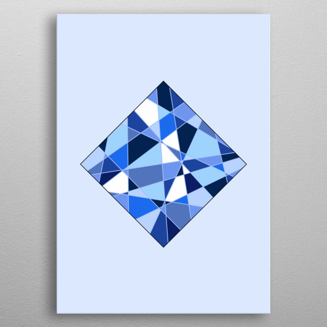 Geometric Square - Based on Gradient Colors. To see more geometric paintings, check my geometry collection.  metal poster