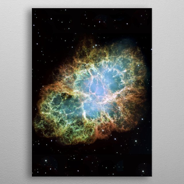 Modern understanding that the Crab Nebula was created by a supernova traces back to 1921. metal poster