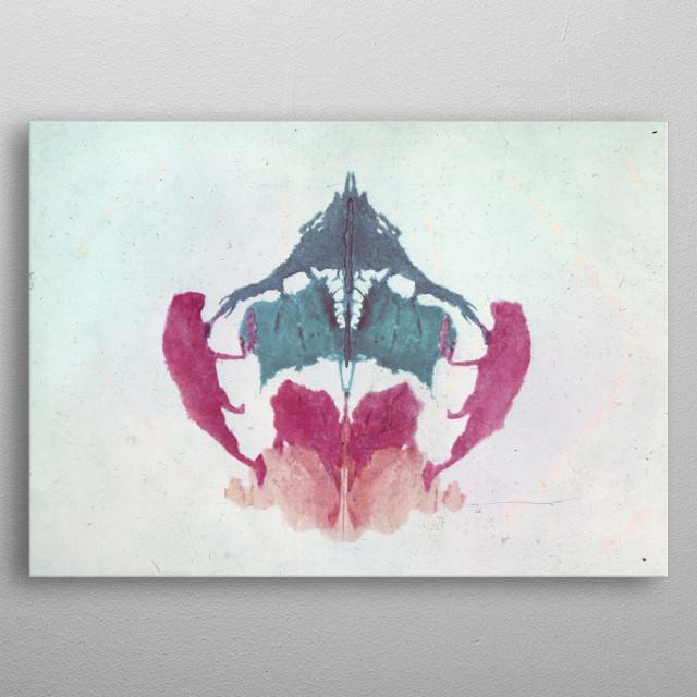 Original and still captivating inkblot test developed by Hermann Rorschach around 1920. metal poster