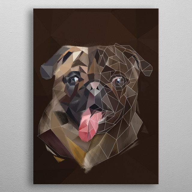 Pug - Modern Animal Collection. For more modern animal check out the collection in my profile. metal poster