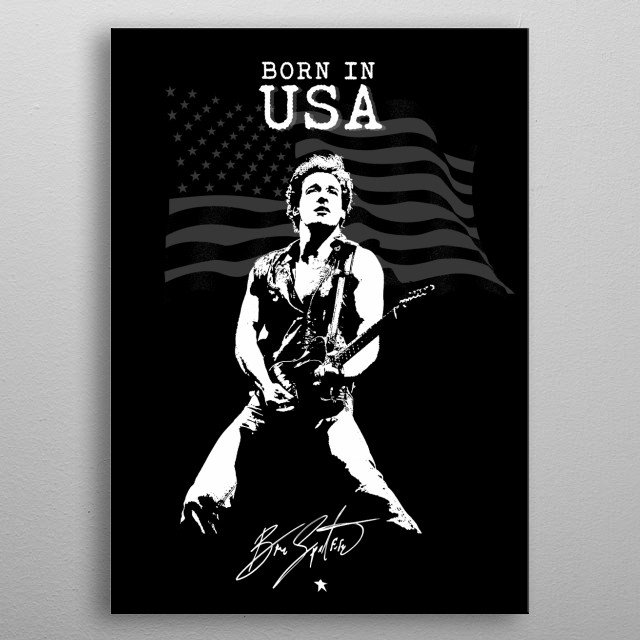 Bruce Springsteen - Born in USA - Rock - Music -American Flag metal poster