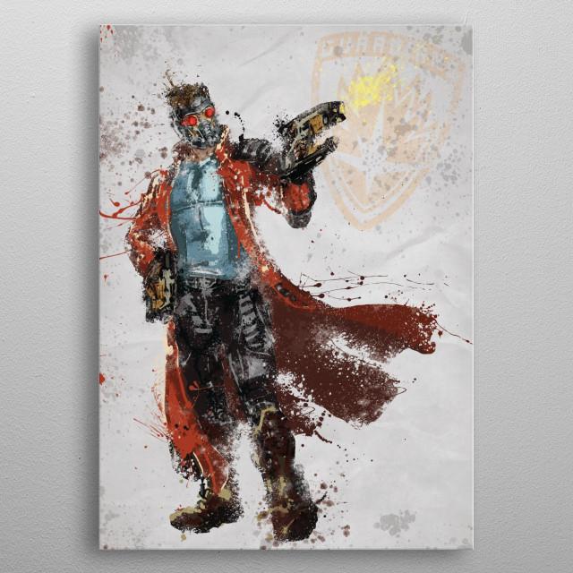 Legendary Outlaw Splatter Art metal poster