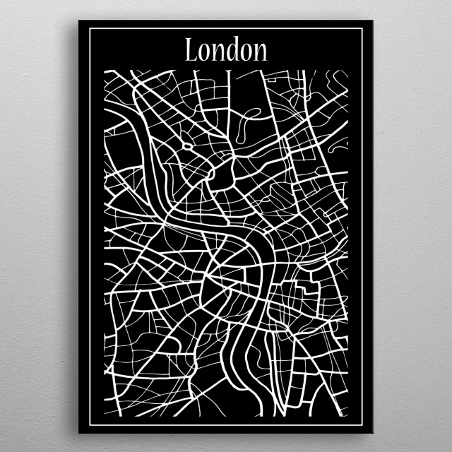London Map metal poster