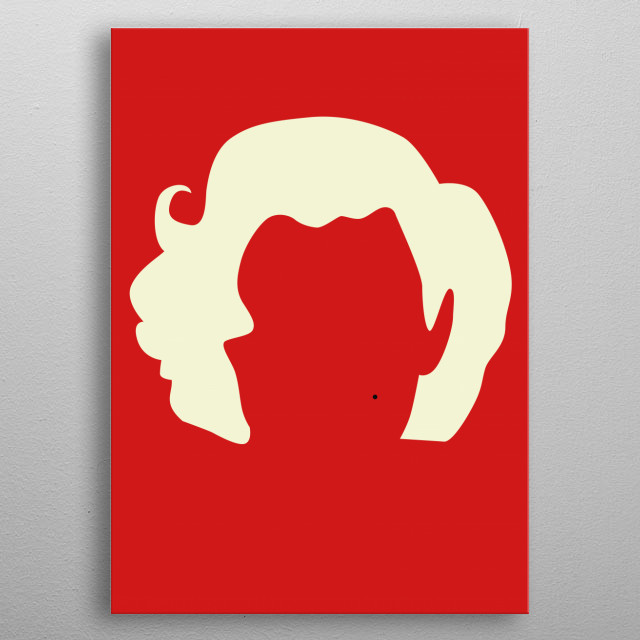 Illustration of Marilyn Monroe. metal poster