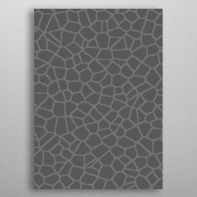 Inspired by the look of cracked glass. metal poster