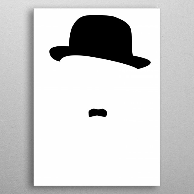 Illustration of Charlie Chaplin. metal poster