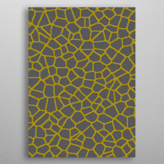 Inspired by the looked of cracked glass. metal poster