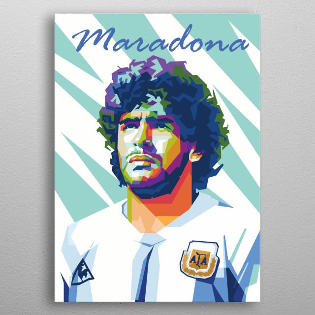 Maradona inWPAP Pop Art metal poster