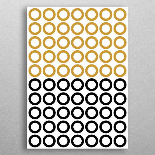 Inspired by the minimalistic look of a pattern of circles. metal poster