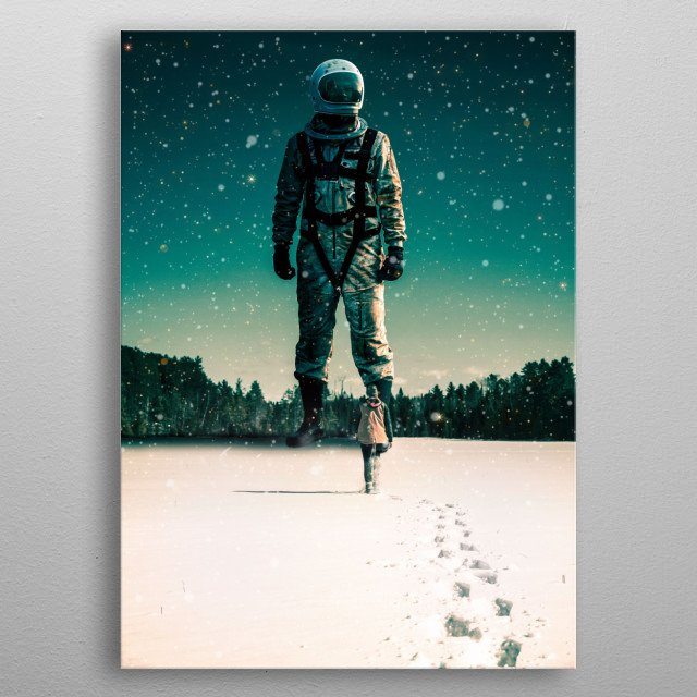 Houston, we have a problem. metal poster