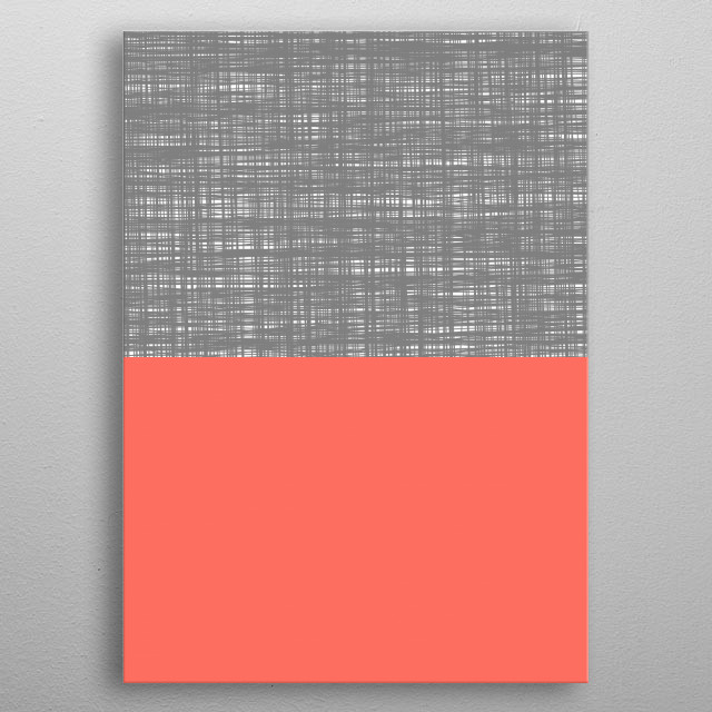 Inspired by the color of the year - Coral. metal poster