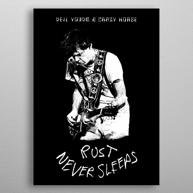 Neil Young & Crazy Horse-Rust never Sleeps-Music,Folk,Rock-Guitar metal poster
