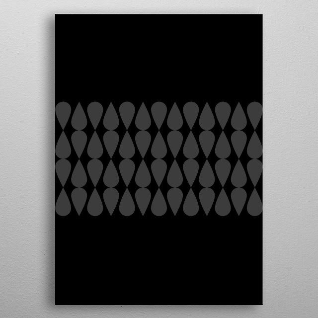 Inspired by the minimal look of rain drops. metal poster