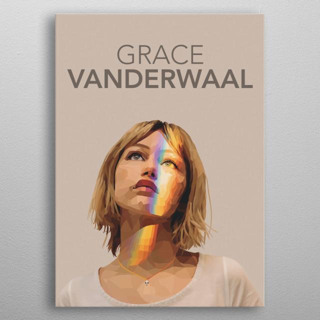 Grace VanderWaal Helmetica  metal poster