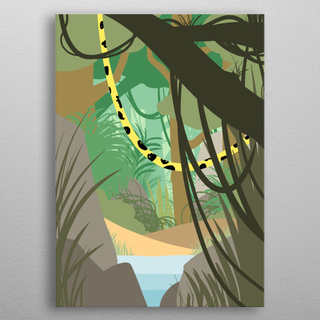 The beast in its jungle metal poster
