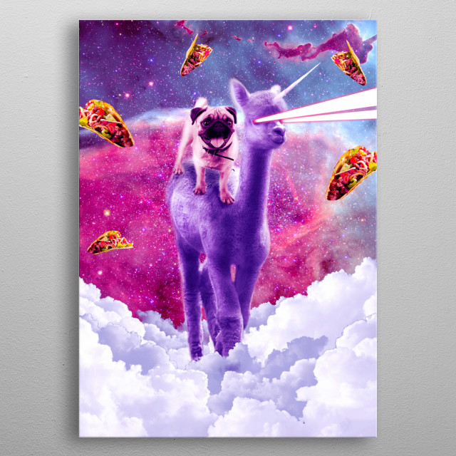 Pick up this funny space unicorn taco design. This unicorn laser design makes a perfect gift so pick one up for you and a friend today.  metal poster