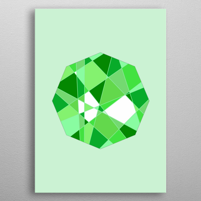 Geometric Octagon - Based on Gradient Colors. To see more geometric paintings, check my geometry collection.  metal poster