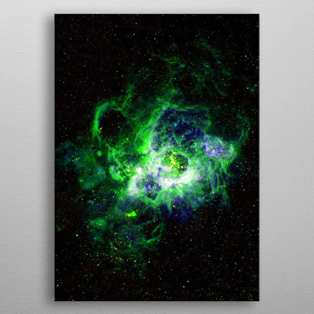 NGC 604 is a new star nursery. metal poster