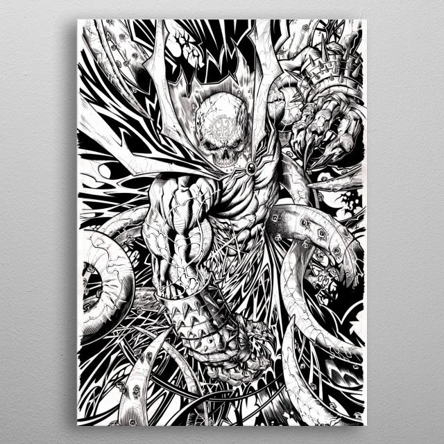 The Black Demon. Created April 2018 metal poster